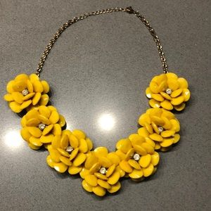 Yellow Flower Necklace.